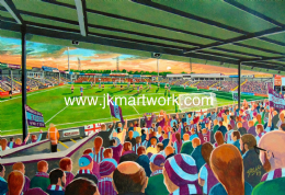 Hand Painted original of glanford park